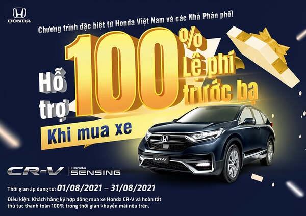 Honda CR-V Tiếp Tục Giảm 100% Thuế Trước Bạ